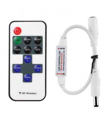 Trådløs dæmper med fjernbetjening - RF trådløs, 12v (144w)