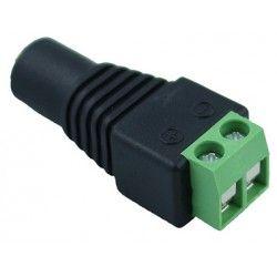 24V RGB DC hunstik - Med skrueterminaler, max 60W