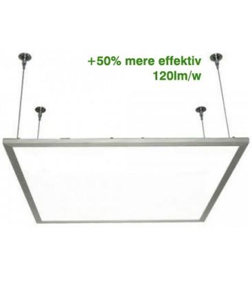 LED Panel 60x60 med ophæng - 29w, 3600 lumens, hvid kant + 120lm/w, 3 års garanti