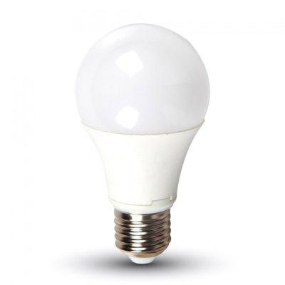 Image of   V-Tac 7W LED pære - A60, E27 - Kulør : Varm, Dæmpbar : Ikke dæmpbar