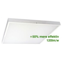 LED Panel 60x60 inkl ramme - 36w, 4200 lumens, hvid kant + 120lm/w
