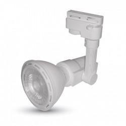 VT-7115.1208: V-Tac Skinnespot med LED pære - 8w, PAR20, E27