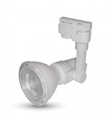 Skinnespot med LED pære - 8w, PAR20, E27