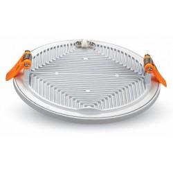 V-Tac LED panel Ø14,5 cm 15w - Hvid kant, til indbygning, 230v