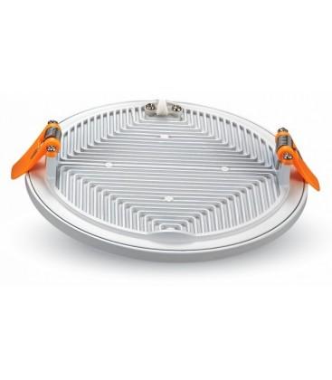 LED panel Ø14,5 cm 15w - Hvid kant, til indbygning, 230v