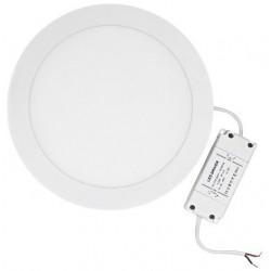 LED panel rund 15cm - 12w, varm hvid, hvid kant, Til indbygning