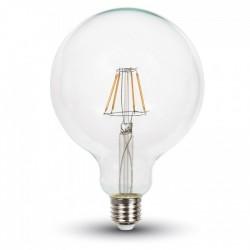 E27 Stor fatning V-Tac 10W LED globepære - Kultråd, Ø12,5 cm, E27