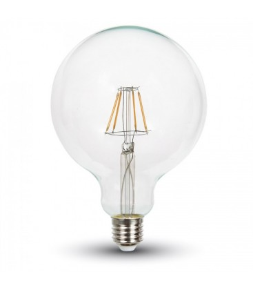 10w LED globepære - Kultråd, G125, E27