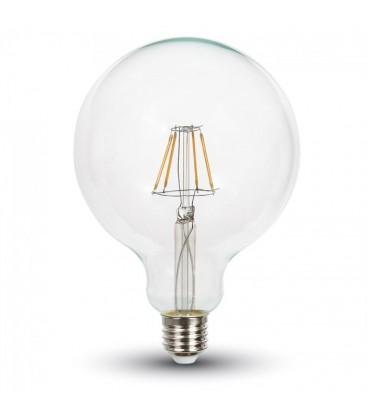 V-Tac 10W LED globepære - Kultråd, Ø12,5 cm, E27