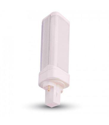 V-Tac G24D LED pære - 6W, 120 grader, varm hvid, mat glas, roterbar