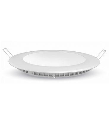 V-Tac 12W LED indbygningspanel - Hul: Ø15,5 cm, Mål: Ø17 cm, 230V