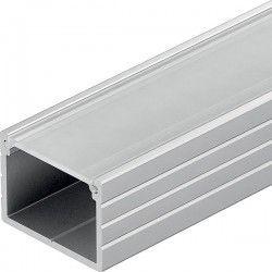 Bred aluprofil Type W til IP68 og 230v LED strip - 1 meter, materet cover