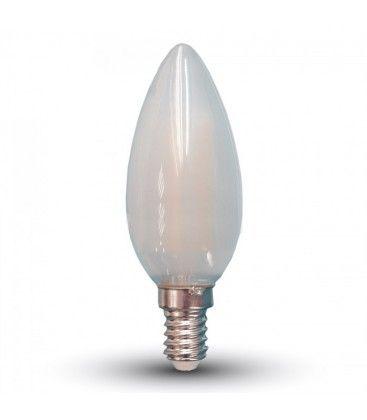 V-Tac 4w LED kertepære - Kultråd, materet glas, E14