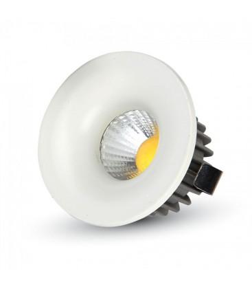 V-Tac 3W LED indbygningsspot - Hul: Ø3,5 cm, Mål: Ø4,5 cm, 230V