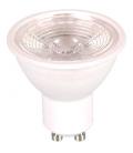 7W GU10 LED Spot med Linse - 110 grader, 500lm, Varm hvid