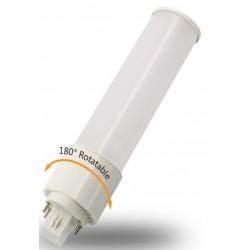 G24D LED pære DIRECT - 10w, 180 grader, 2 ben, roterbar, direkte montering
