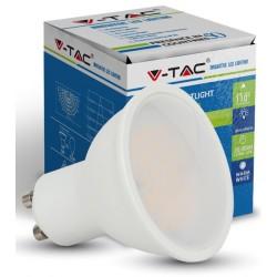 V-Tac FROST7 - 7W LED spot, dæmpbar, varm hvid, høj spredning, GU10