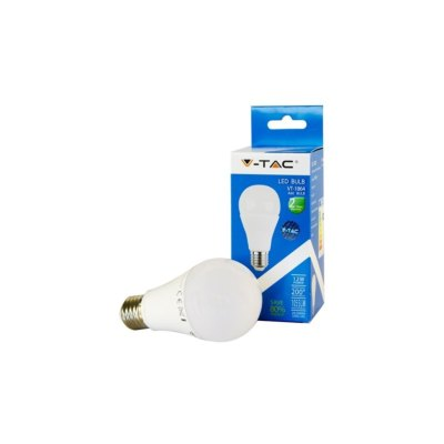 Image of   V-Tac 12W LED pære - A60, 200°, E27 - Kulør : Neutral, Dæmpbar : Ikke dæmpbar