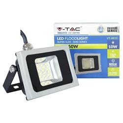 V-4810: V-Tac LED Projektør 10W - Ny model, Tynd, SMD, 800lm, Arbejdslampe