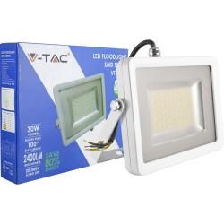 V-4830: V-Tac 30W LED Projektør - Ny model, Tynd, SMD, 2400lm, Arbejdslampe