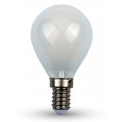 V-Tac 4w LED kronepære - Kultråd, materet glas, E14