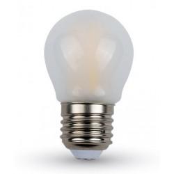Almindelige LED pærer E27 V-Tac 4W LED kronepære - Kultråd, materet, G45, E27