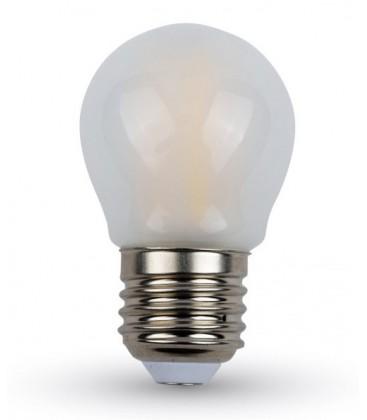 V-Tac 4W LED krone pære - Kultråd, Matteret, dæmpbar, varm hvid, E27