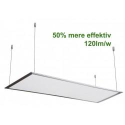 V-Tac LED Panel 120x30 cm inkl ophæng - 29w, 3600lm, 120lm/w, 3 års garanti, hvid kant