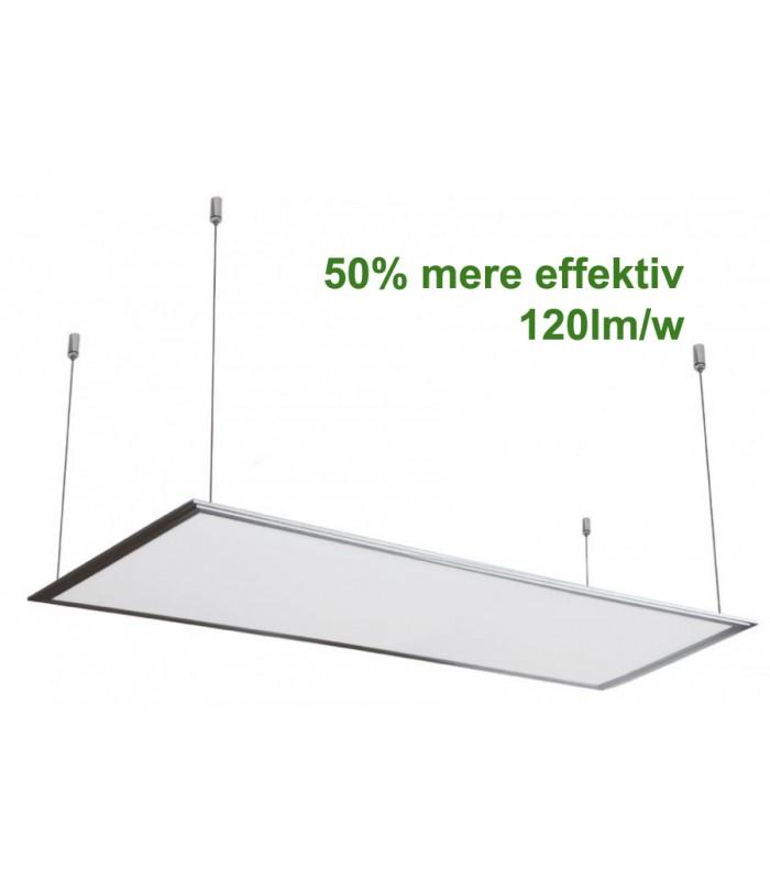 v tac led panel 120x30 cm inkl oph ng 29w 3600lm 120lm w 3 rs garanti hvid kant. Black Bedroom Furniture Sets. Home Design Ideas