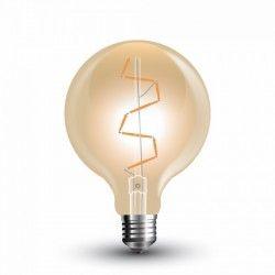 E27 Stor fatning V-Tac 4W LED globepære - Kultråd, Ø9,5 cm, ekstra varm hvid, 2200K, E27