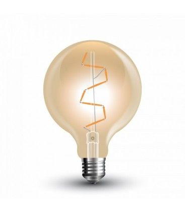 V-Tac 4W LED globepære - Kultråd, Ø9,5 cm, ekstra varm hvid, 2200K, E27