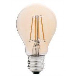 E27 Stor fatning LEDlife 4W LED pære - Dæmpbar, kultråd, røget glas, ekstra varm hvid, 2200K, A60, E27