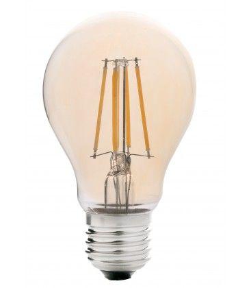 LEDlife 4W LED pære - Dæmpbar, kultråd, røget glas, ekstra varm hvid, 2200K, A60, E27