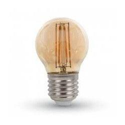E27.4w.2200k.krone.dim: LEDlife 4W LED krone pære - Dæmpbar, Kultråd, Røget glas, Ekstra varm, E27