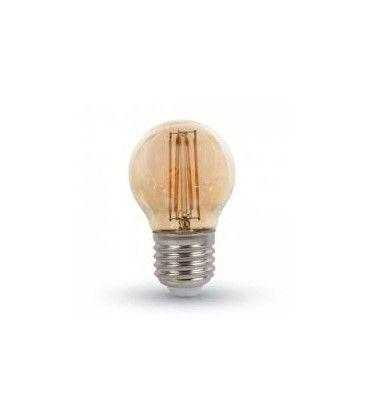 LEDlife 4W LED kronepære - Dæmpbar, kultråd, røget glas, ekstra varm hvid, 2200K, A60, E27