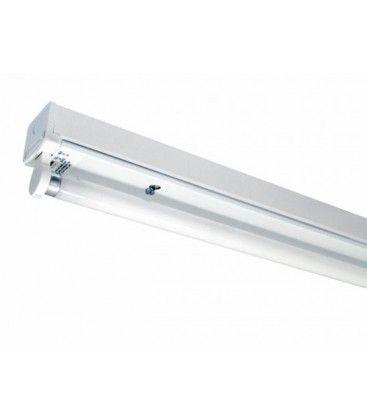 V-Tac T8 LED grundarmatur - Til 1x 150cm LED rør, IP20 indendørs