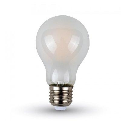 Image of   V-Tac 4W LED pære - Kultråd, materet, A60, E27 - Kulør : Varm, Dæmpbar : Ikke dæmpbar