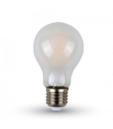 V-Tac 4W LED pære - Kultråd, matteret, A60, E27