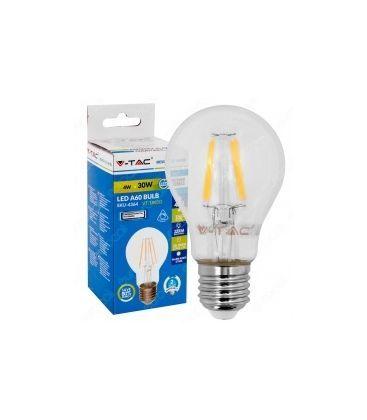 V-Tac 4W LED pære - Kultråd, dæmpbar, varm hvid, E27
