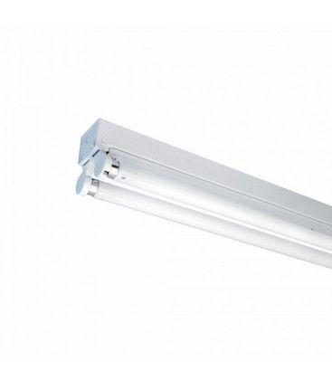 V-Tac T8 LED grundarmatur - Til 2x 60cm LED rør, IP20 indendørs