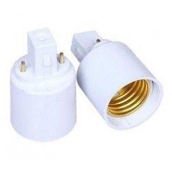 G23.E27.adapter: G23 til E27 adapter