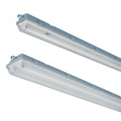 vento.150.dbl.wired: Vento LED T8 armatur Gennemfortrådet - 2x 150 cm rør, IP65 armatur