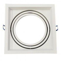 V-Tac indbygningsspot - Hvid, Mål: 17,5 x 17,5 cm, G53 AR111