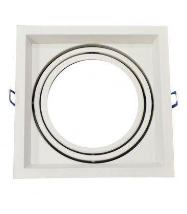 V-Tac indbygningsspot - Hvid, 17,5 x 17,5 cm, G53 AR111