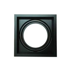 V-Tac indbygningsspot - Sort, Mål: 17,5 x 17,5 cm, G53 AR111