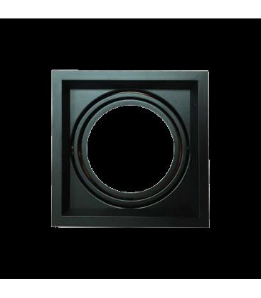 V-Tac indbygningsspot - Sort, 175x175mm, G53 AR111