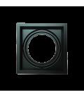 V-Tac indbygningsspot - Sort, 17,5 x 17,5 cm, G53 AR111
