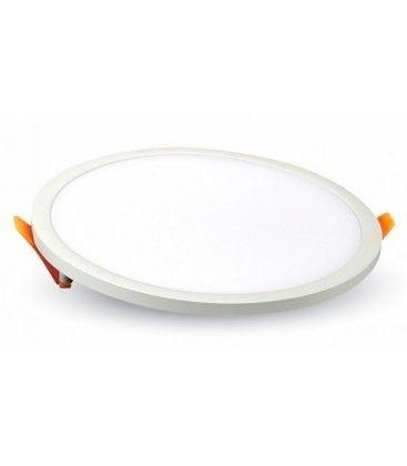 V-Tac LED panel Ø20 cm 29W - Hvid kant, til indbygning, Hul: 19cm, 230V