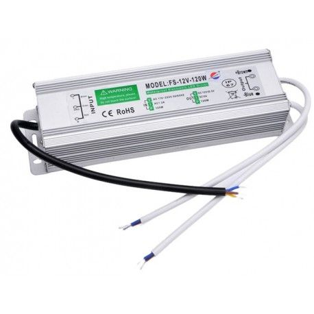 Strømforsyning 12v DC, 120w, Vandtæt