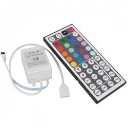 VT-2403: RGB kontroller med fjernbetjening - 12V, memory funktion, infrarød, 72W
